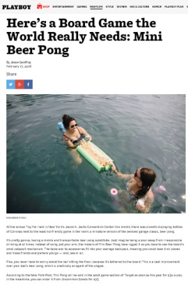 Playboy Article - Mini Beer Pong