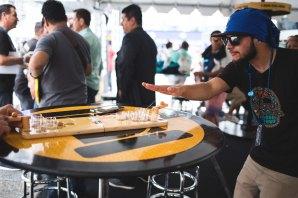 Mini Beer Pong at LA Live