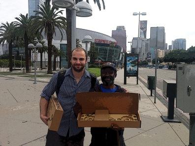 Game trade outside Staples Center